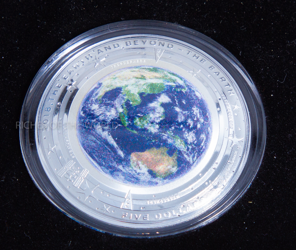 2018 Australia 5 The Earth And Beyond The Domed Silver